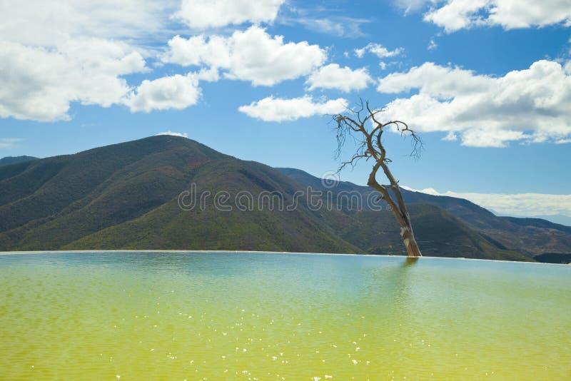Agua d'EL de Hierve dans l'état d'oaxaca, Mexique photographie stock
