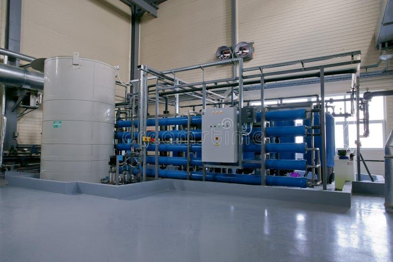 Agua de aireación de la producción de la fábrica imagenes de archivo
