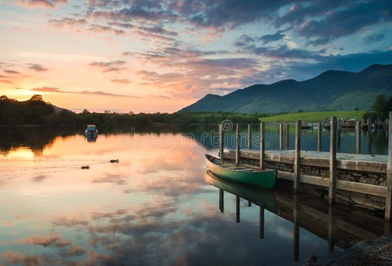 Agua de Derwent, distrito del lago imágenes de archivo libres de regalías