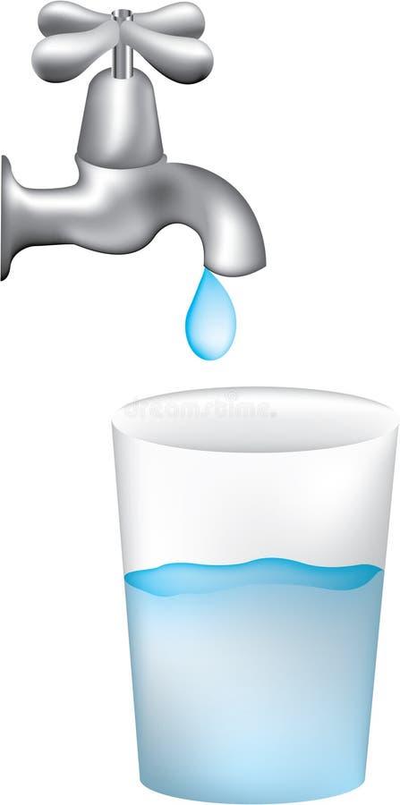 Agua de golpecito stock de ilustración