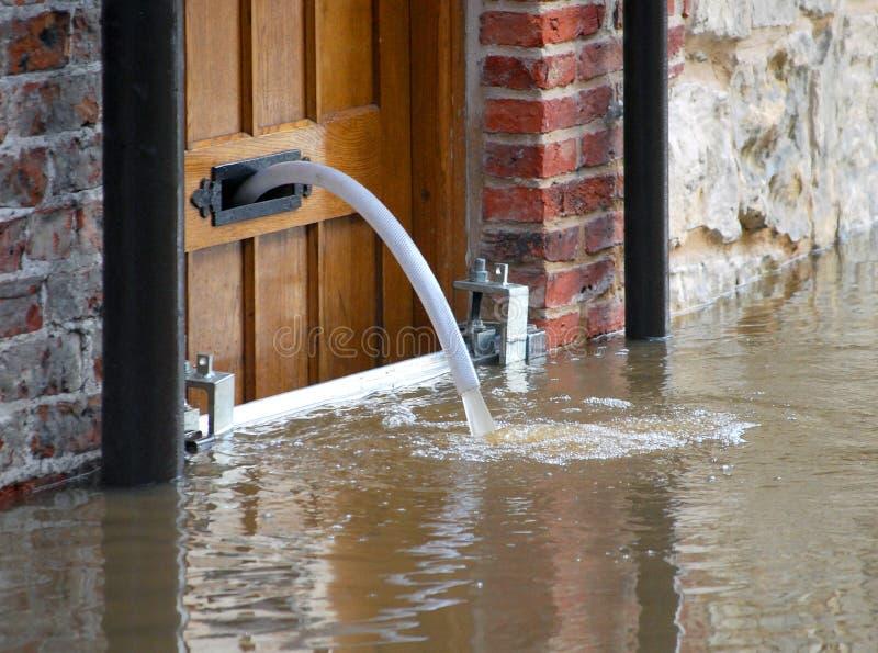 Agua de inundación foto de archivo libre de regalías