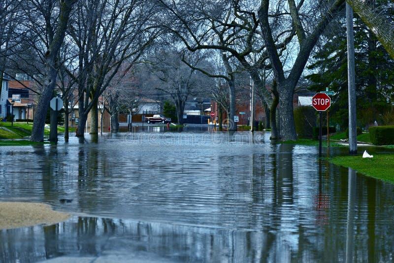 Agua de inundación profunda imagen de archivo
