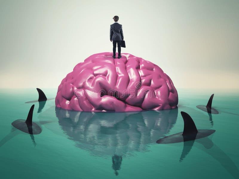 Agua de los tiburones del cerebro libre illustration