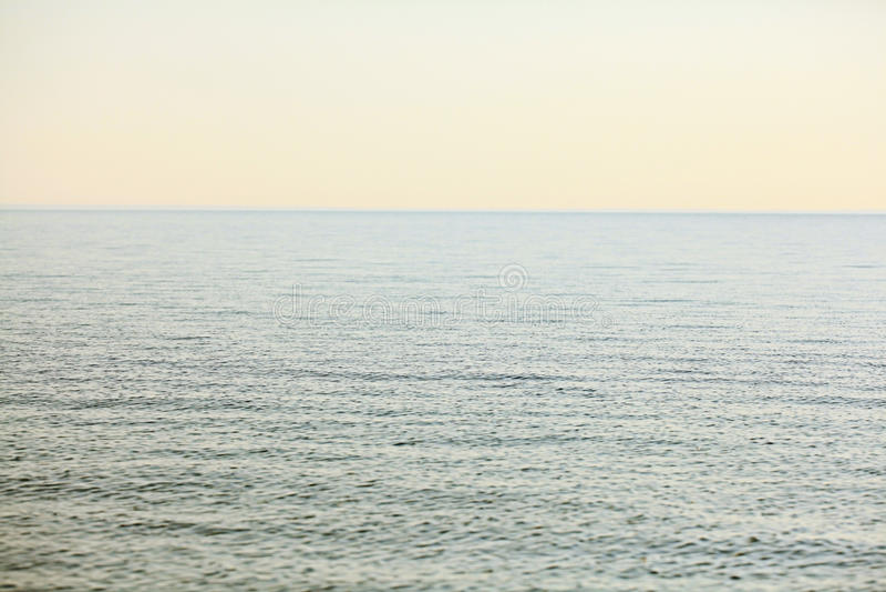 agua de mar del paisaje en luz suave foto de archivo libre de regalías