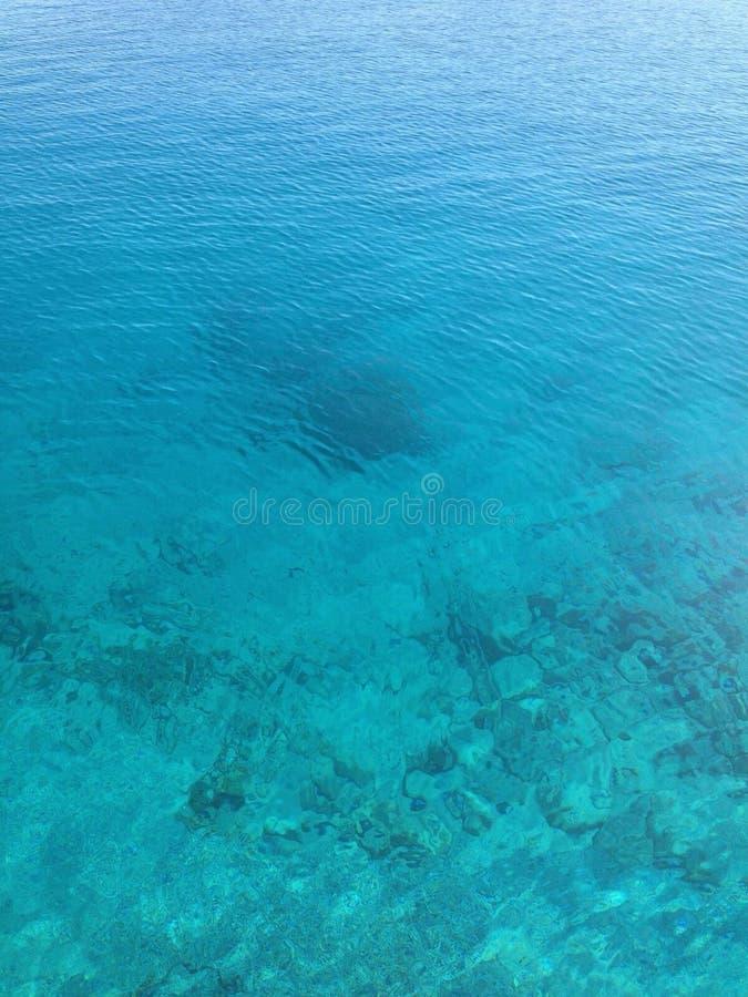 Agua de Mykonos fotos de archivo