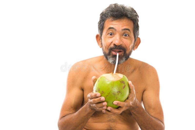 Agua del coco de la bebida imagenes de archivo