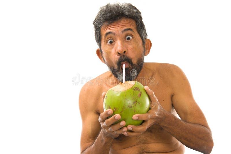 Agua del coco de la bebida imagen de archivo