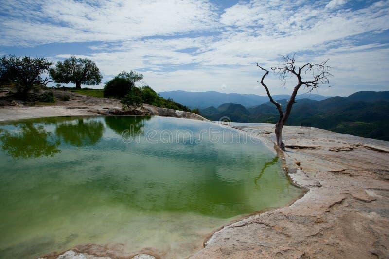 Agua del EL de Hierve fotos de archivo