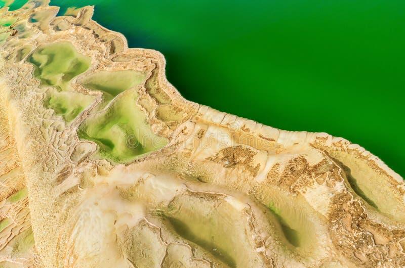 Agua del EL de Hierve en los valles centrales de Oaxaca méxico imagen de archivo libre de regalías