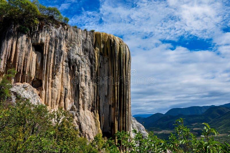Agua del EL de Hierve, Oaxaca, México imagen de archivo