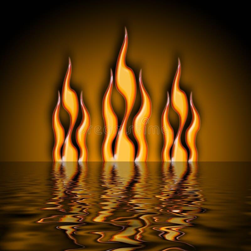 Agua del fuego ilustración del vector