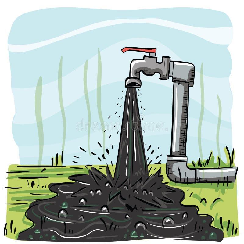 Agua del grifo sucia ilustración del vector