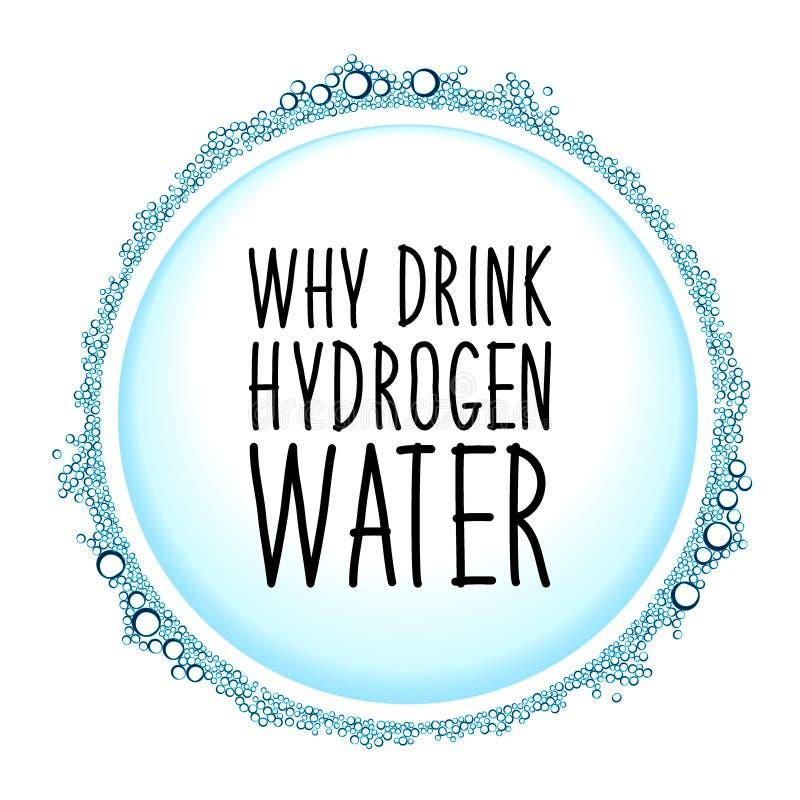 Agua del hidrógeno que bebe el marco del concepto de la nueva tecnología ilustración del vector