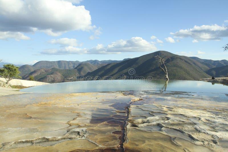 Agua do EL de Hierve no estado de oaxaca, México imagens de stock royalty free