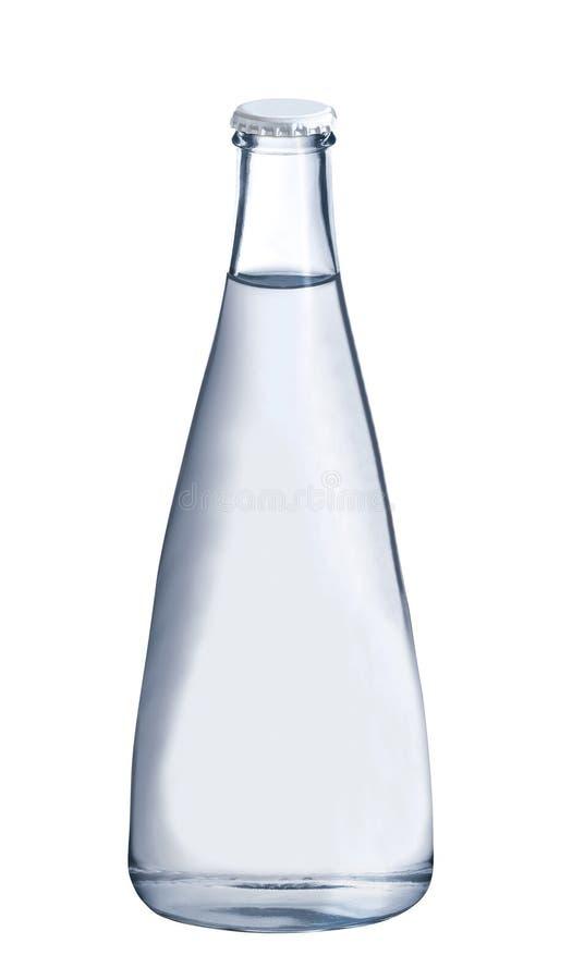 Agua en la botella de cristal fotos de archivo libres de regalías