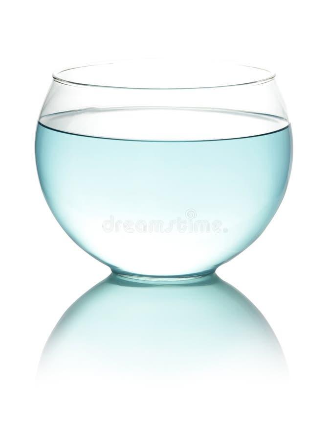 Agua entonada azul en fishbowl fotos de archivo libres de regalías