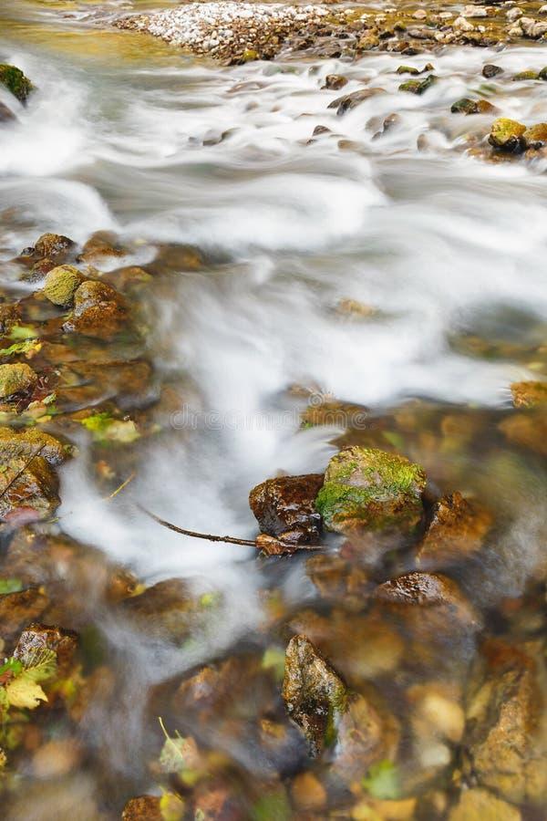 Agua, fondo y textura rápidos de río foto de archivo