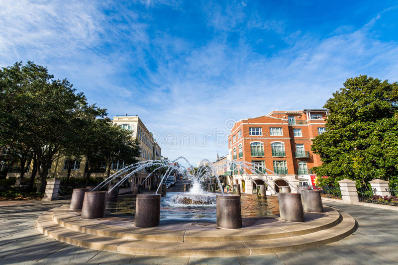 Agua Front Park en Charleston South Carolina fotos de archivo libres de regalías
