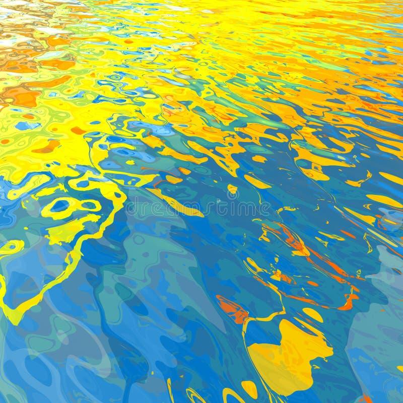 Agua hermosa abstracta stock de ilustración
