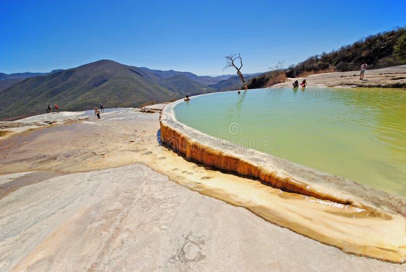 Agua Hierve el, Мексика стоковое фото rf
