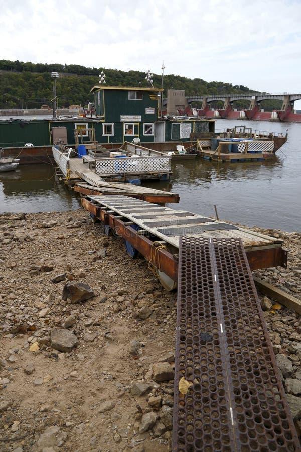 Agua Inferior En El Río Misisipi Imagen editorial