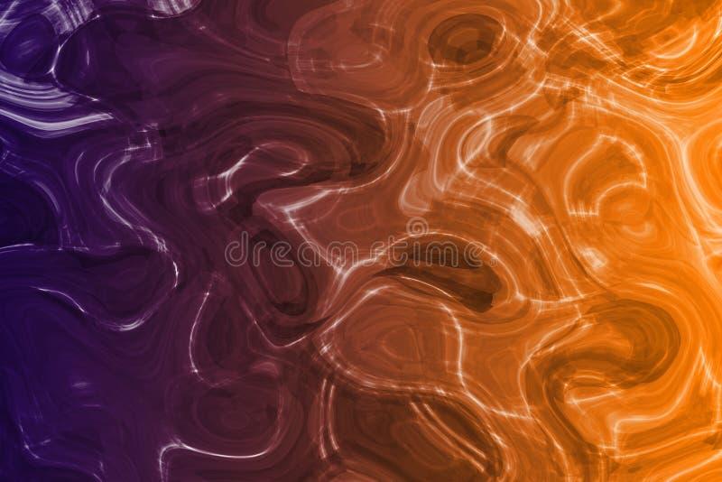 Agua líquida calmante extranjera del metal ilustración del vector