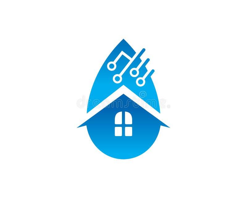Agua Logo Template Design Vector, emblema, concepto de la casa de diseño, libre illustration