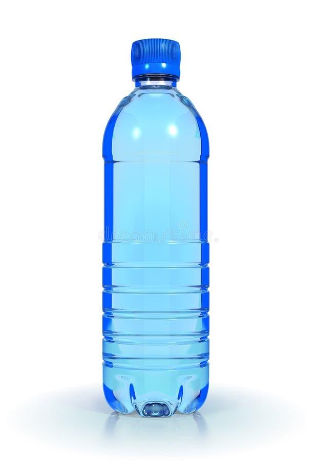 Agua mineral en botella plástica imagenes de archivo