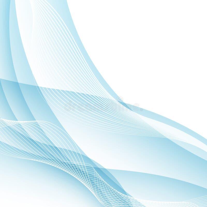 Agua moderna como concepto de la frontera de la onda de Swoosh Vector Illustratio ilustración del vector