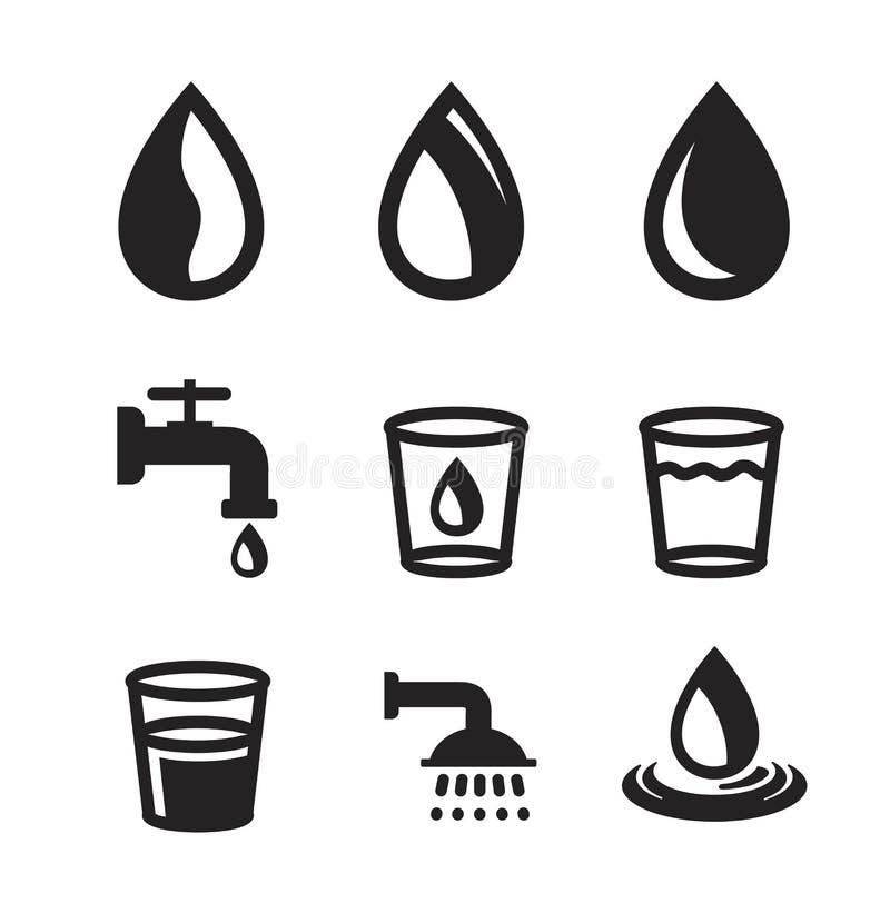 Agua negra del vector libre illustration