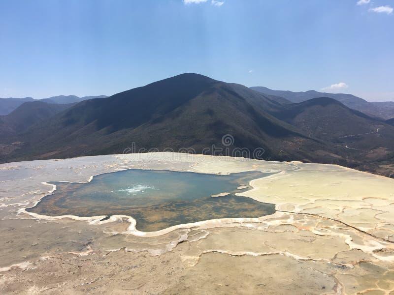 Agua Oaxaca México del EL de Hierve fotos de archivo