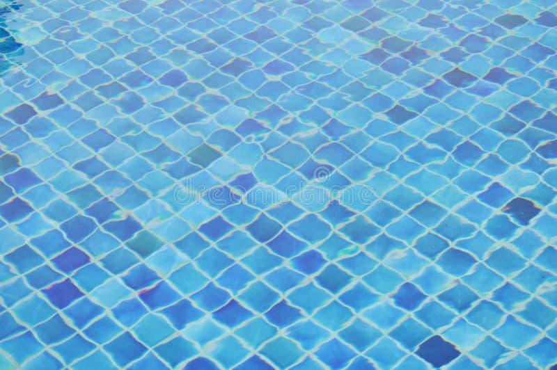 Agua ondulada en piscina azul de la teja imagen de archivo