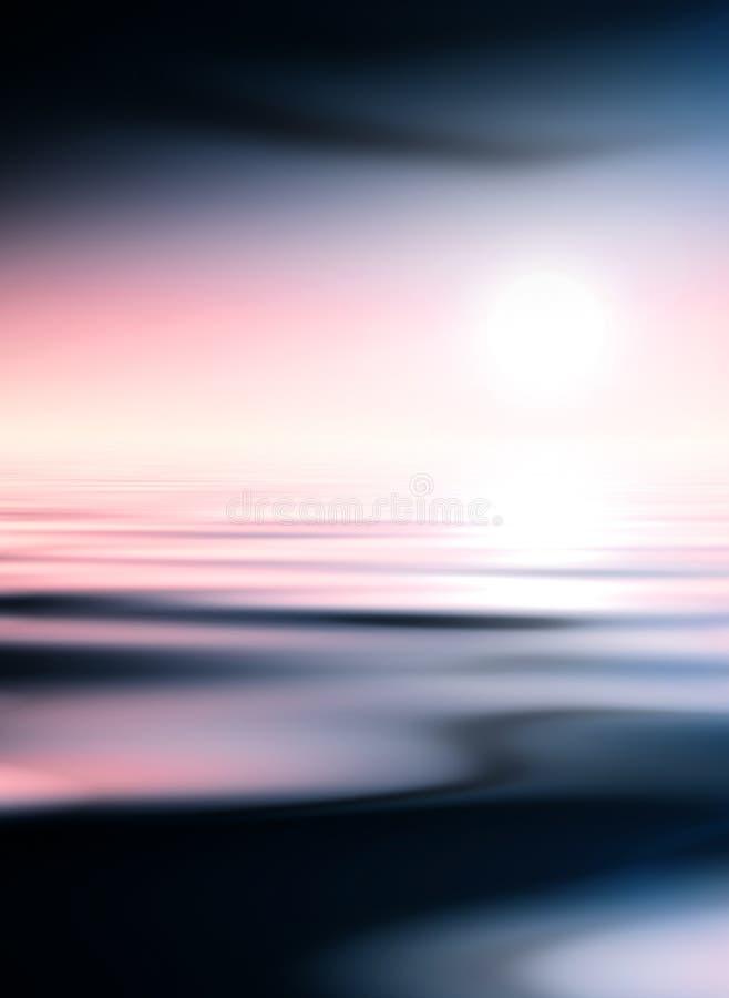 Agua oscura y cielo rosado libre illustration