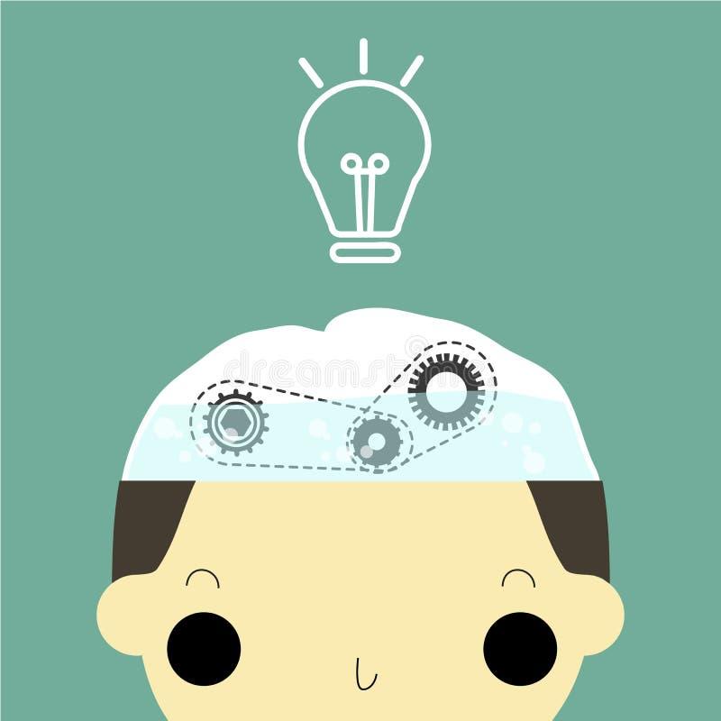 Agua para el cerebro ilustración del vector