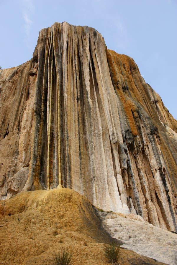 Agua Petrified do EL do hierve da cachoeira fotografia de stock royalty free
