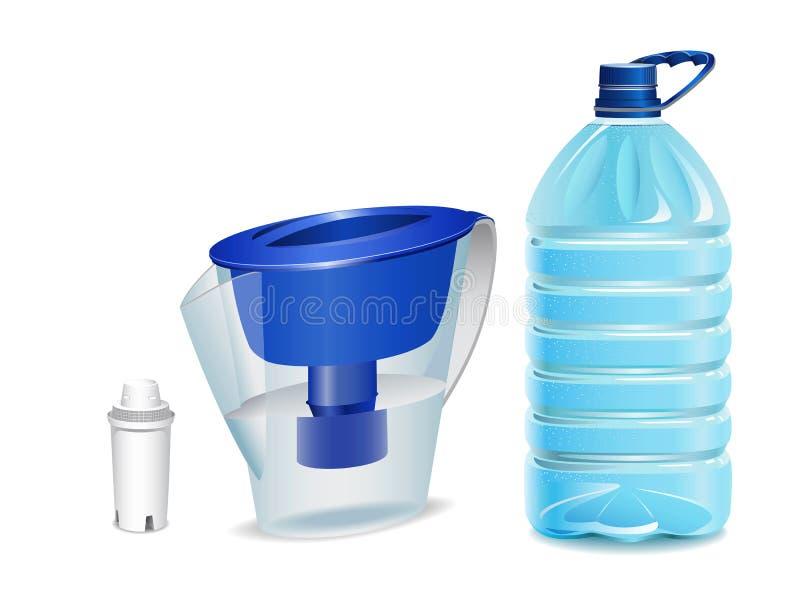 Agua potável. ilustração stock