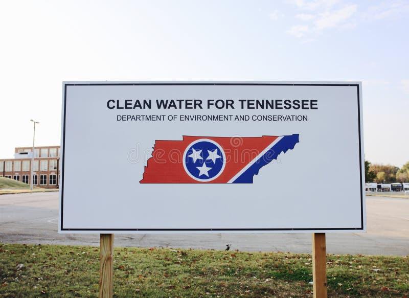 Agua potável para Tennessee Project imagens de stock