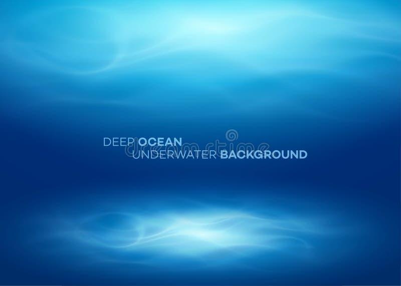 Agua profunda azul y fondo natural abstracto del mar Ilustraci?n del vector stock de ilustración