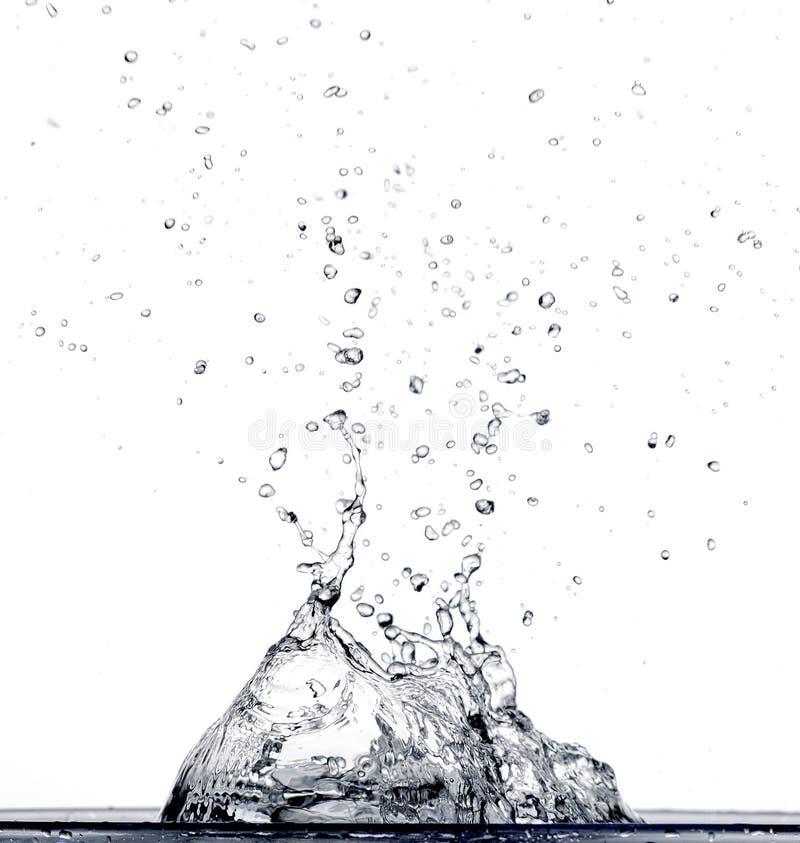 Agua que cae en agua fotografía de archivo libre de regalías