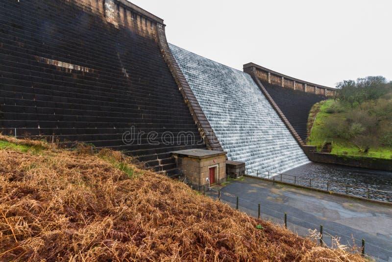 Agua que conecta en cascada abajo de la presa de Avon, Dartmoor imagenes de archivo