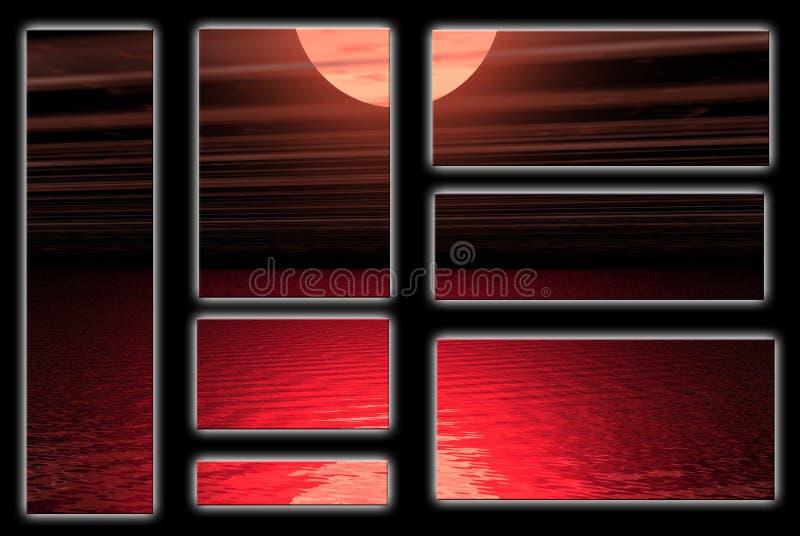 Agua roja stock de ilustración