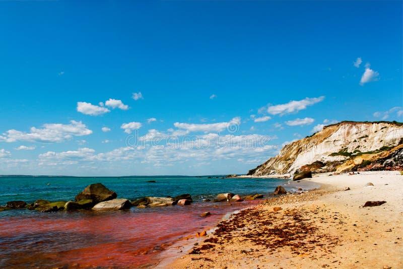 Agua roja del océano fotos de archivo libres de regalías