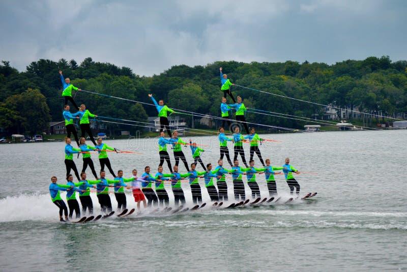 Agua Ski Pyramid imagen de archivo libre de regalías