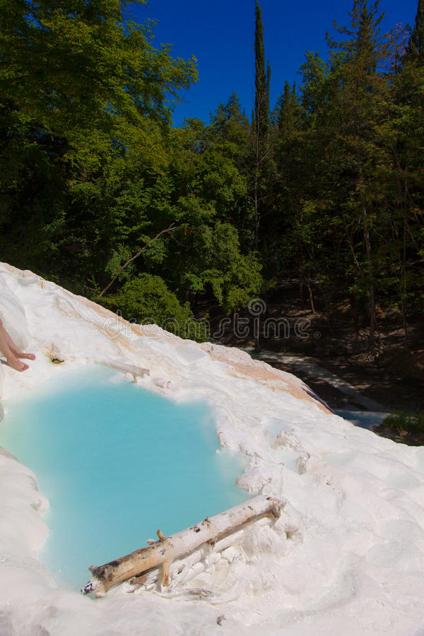 Agua termal imagen de archivo