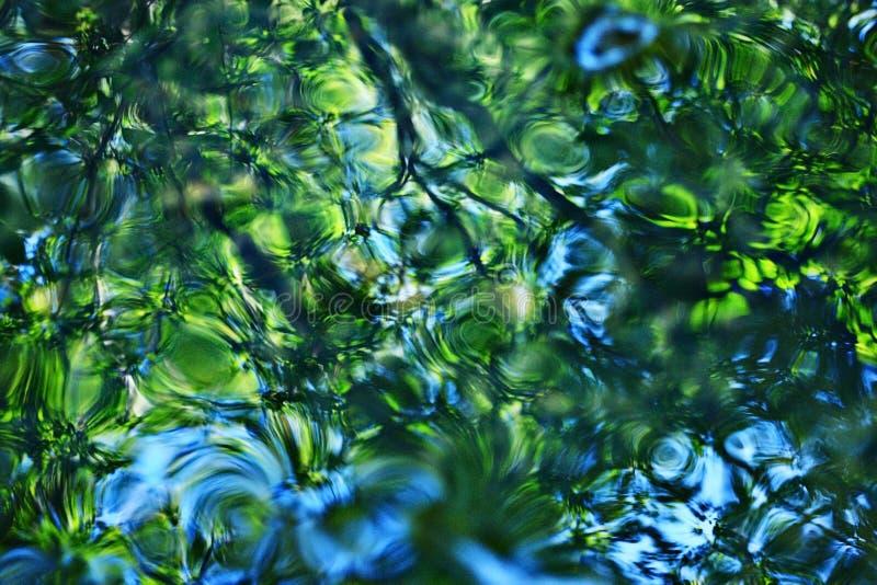 Agua verde borrosa textura fotos de archivo libres de regalías