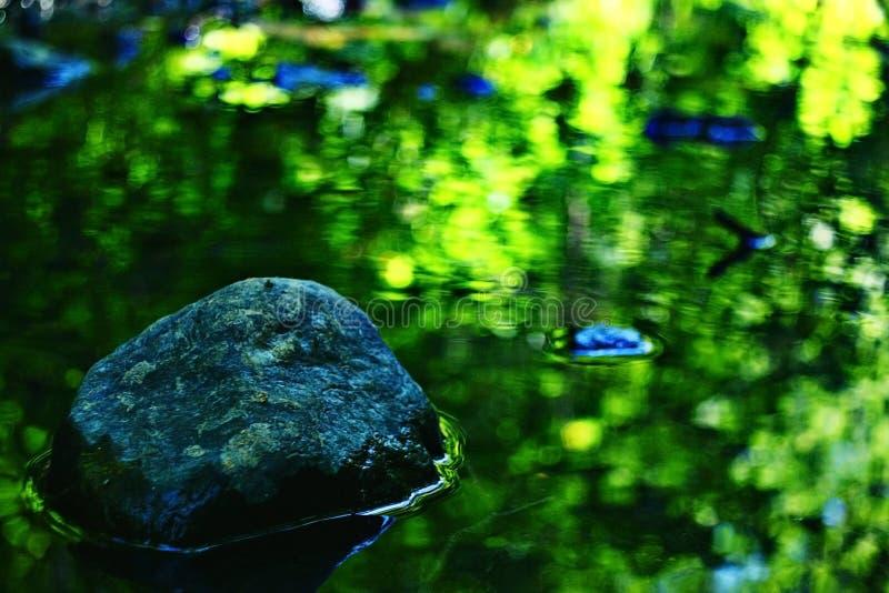 Agua verde borrosa textura fotografía de archivo libre de regalías