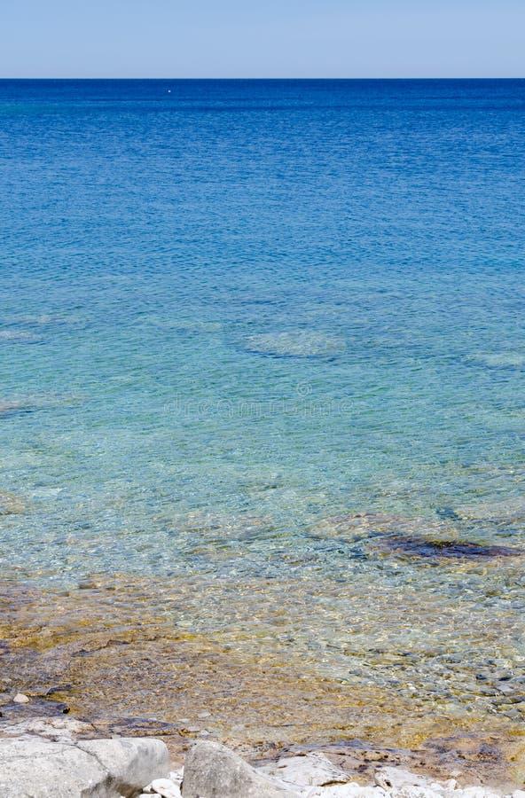 Agua verde y azul fotos de archivo
