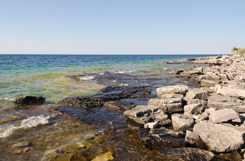 Agua verde y azul foto de archivo