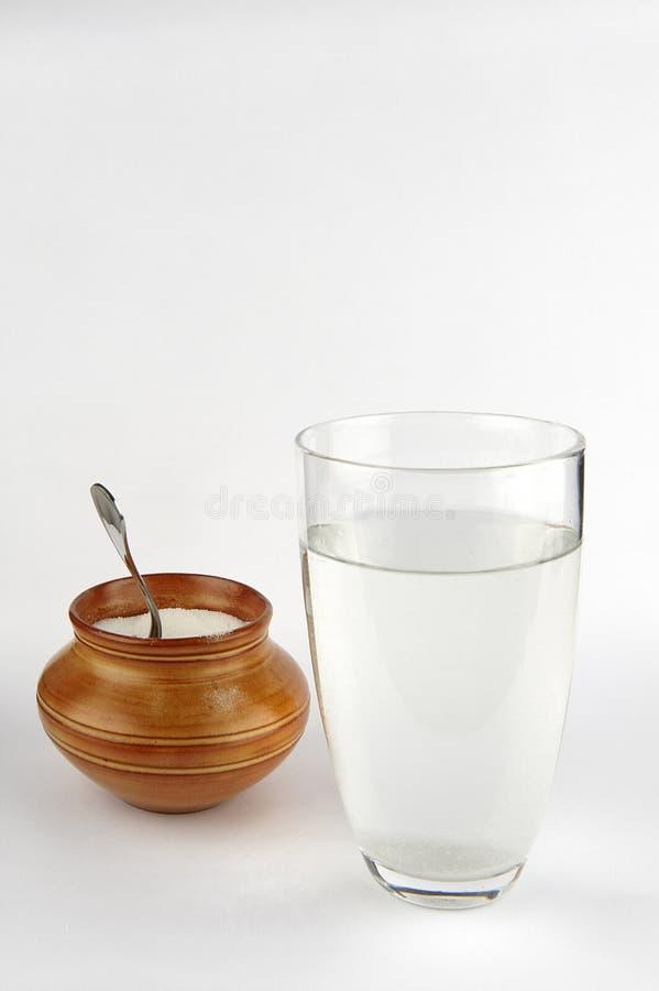 Agua y azúcar imagen de archivo libre de regalías