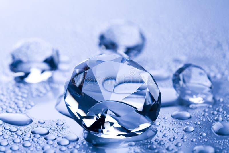 Agua y diamante fotos de archivo